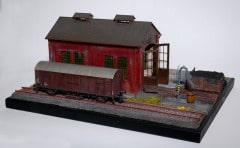 H0 diorama výtopny
